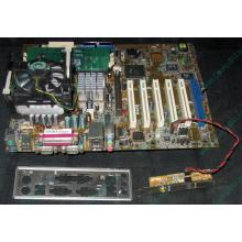 Материнская плата Asus P4PE (FireWire) с процессором Intel Pentium-4 2.4GHz s.478 и памятью 768Mb DDR1 Б/У (Петрозаводск)